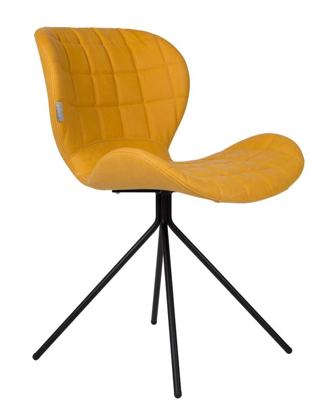 Zuiver Zuiver - omg spisebordsstol - gul pu læder fra unoliving.com