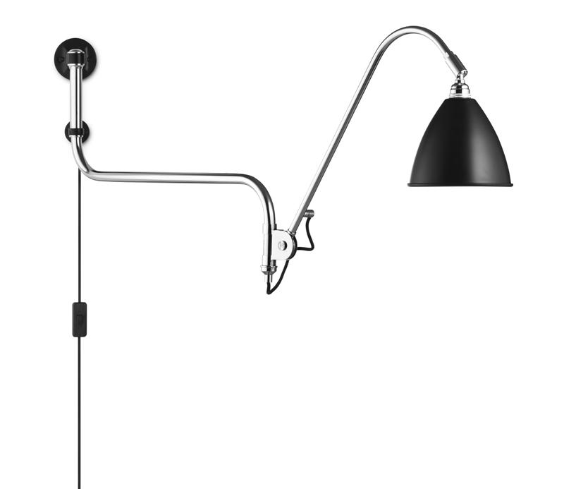Gubi Gubi - bestlite - bl10 væglampe sort/krom - ø16 på unoliving.com