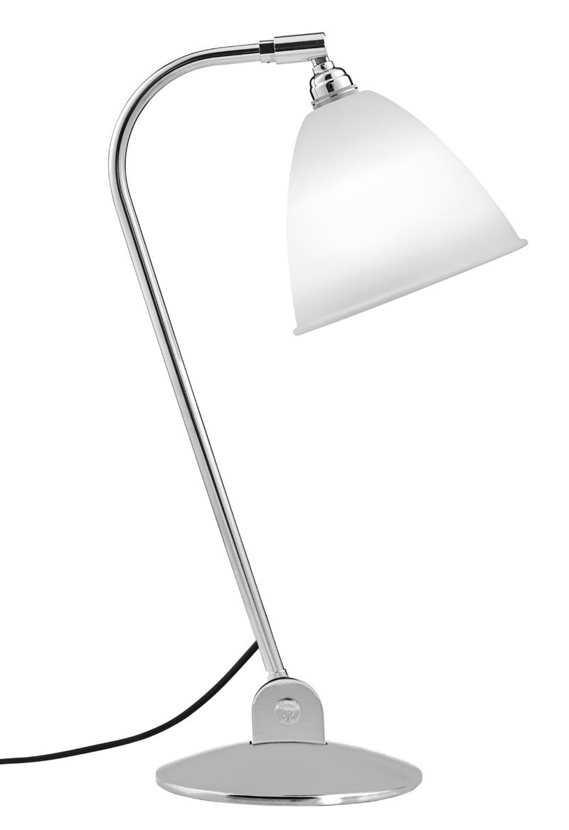 Billede af GUBI - BestLite - BL2 Bordlampe Hvid/Krom - Ø16