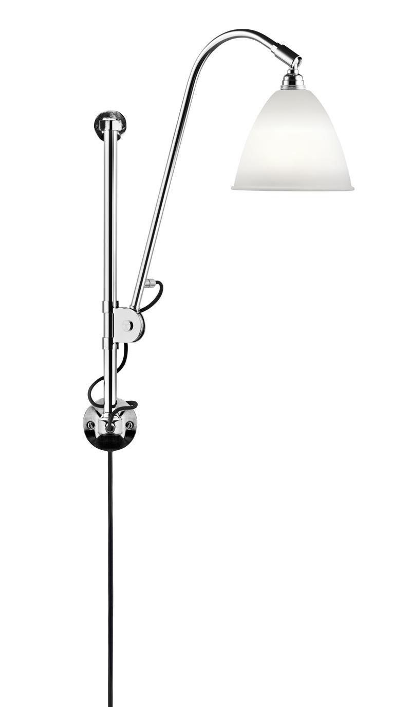 Gubi – Gubi - bestlite - bl5 væglampe hvid/krom - ø16 på unoliving.com