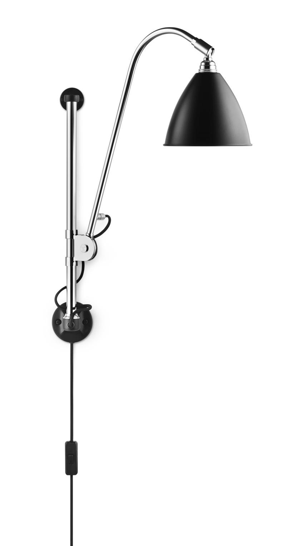 Gubi Gubi - bestlite - bl5 væglampe sort/krom - ø16 fra unoliving.com