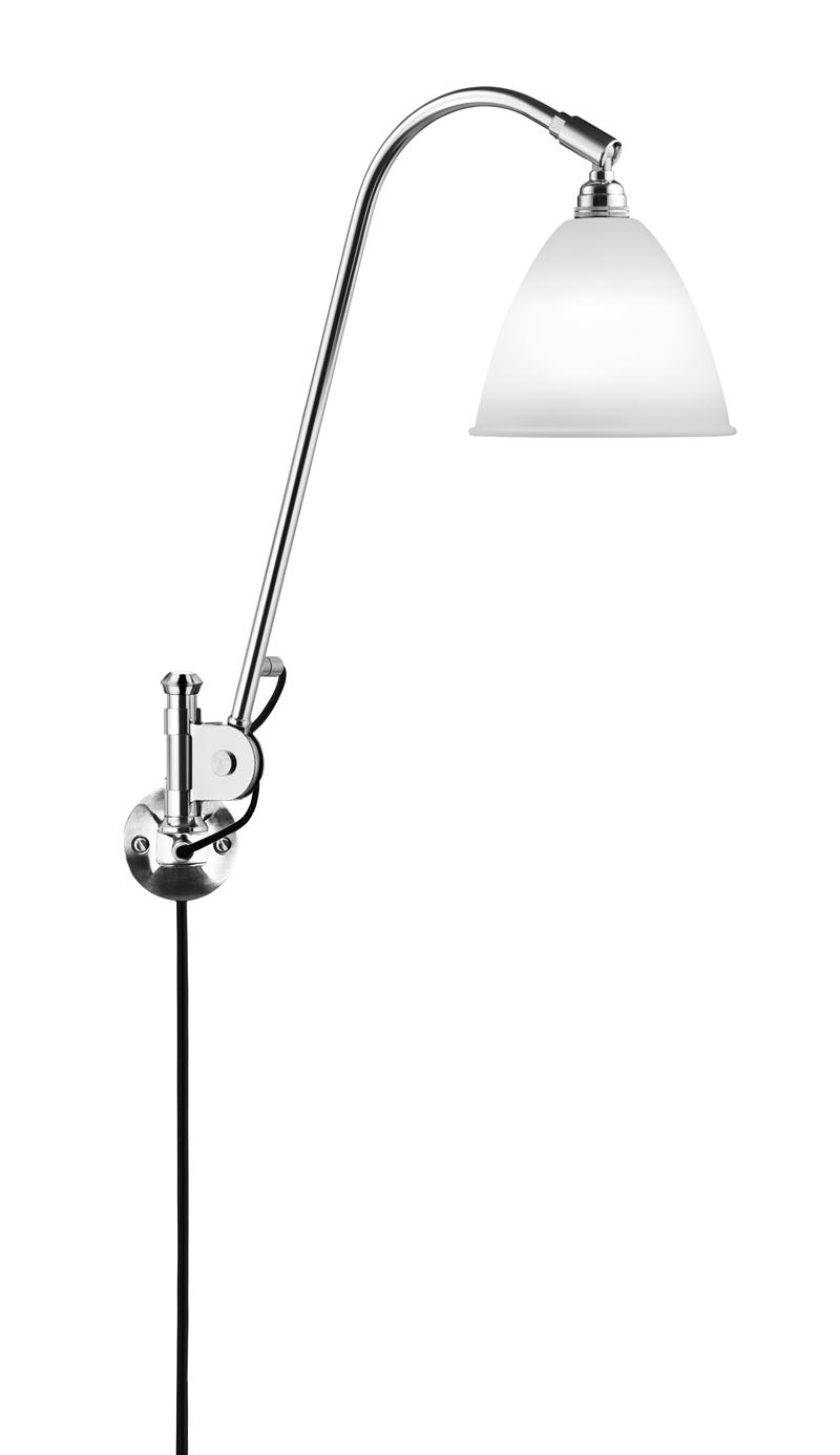 Gubi Gubi - bestlite - bl6 væglampe hvid/krom - ø16 fra unoliving.com