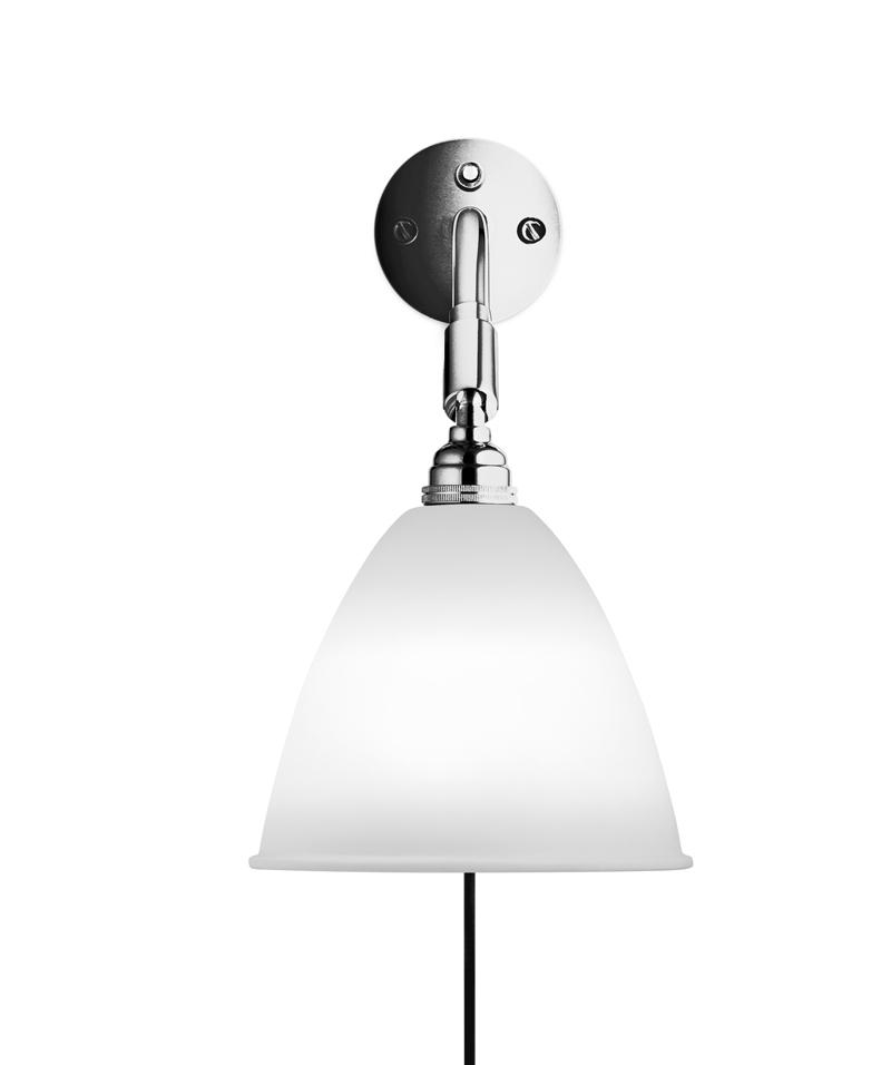 Gubi – Gubi - bestlite - bl7 væglampe  hvid/krom - ø16 fra unoliving.com