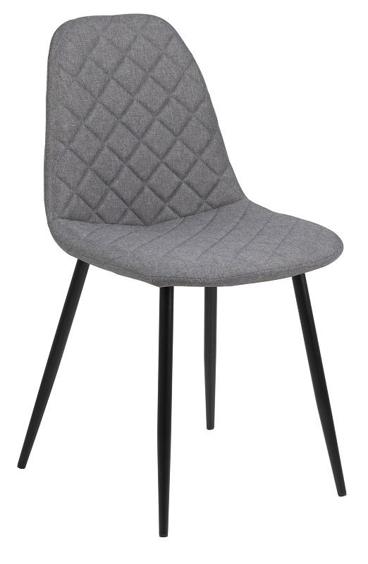 N/A Selma spisebordsstol -  lys grå med sorte ben på unoliving.com