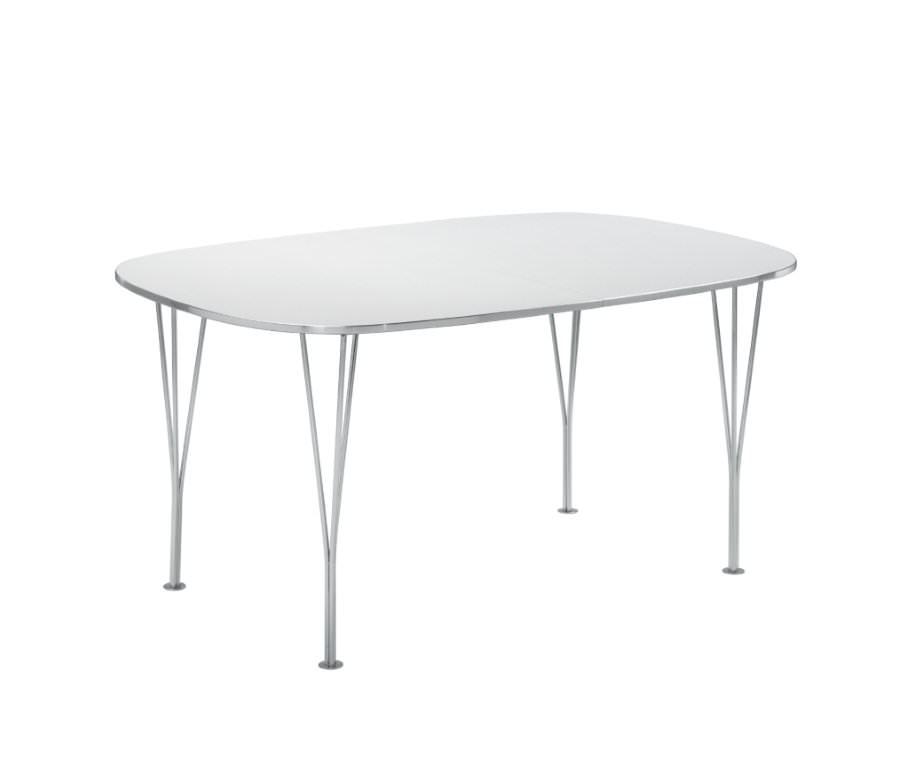 Betina spisebord med tillægsplader - hvid fra N/A på unoliving.com