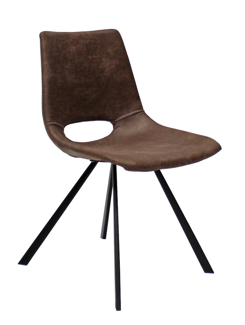 Canett Wayne spisebordsstol - brun microfiber på unoliving.com