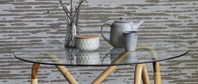 N/A – Cane-line - bordplade til wave stel - glas fra unoliving.com