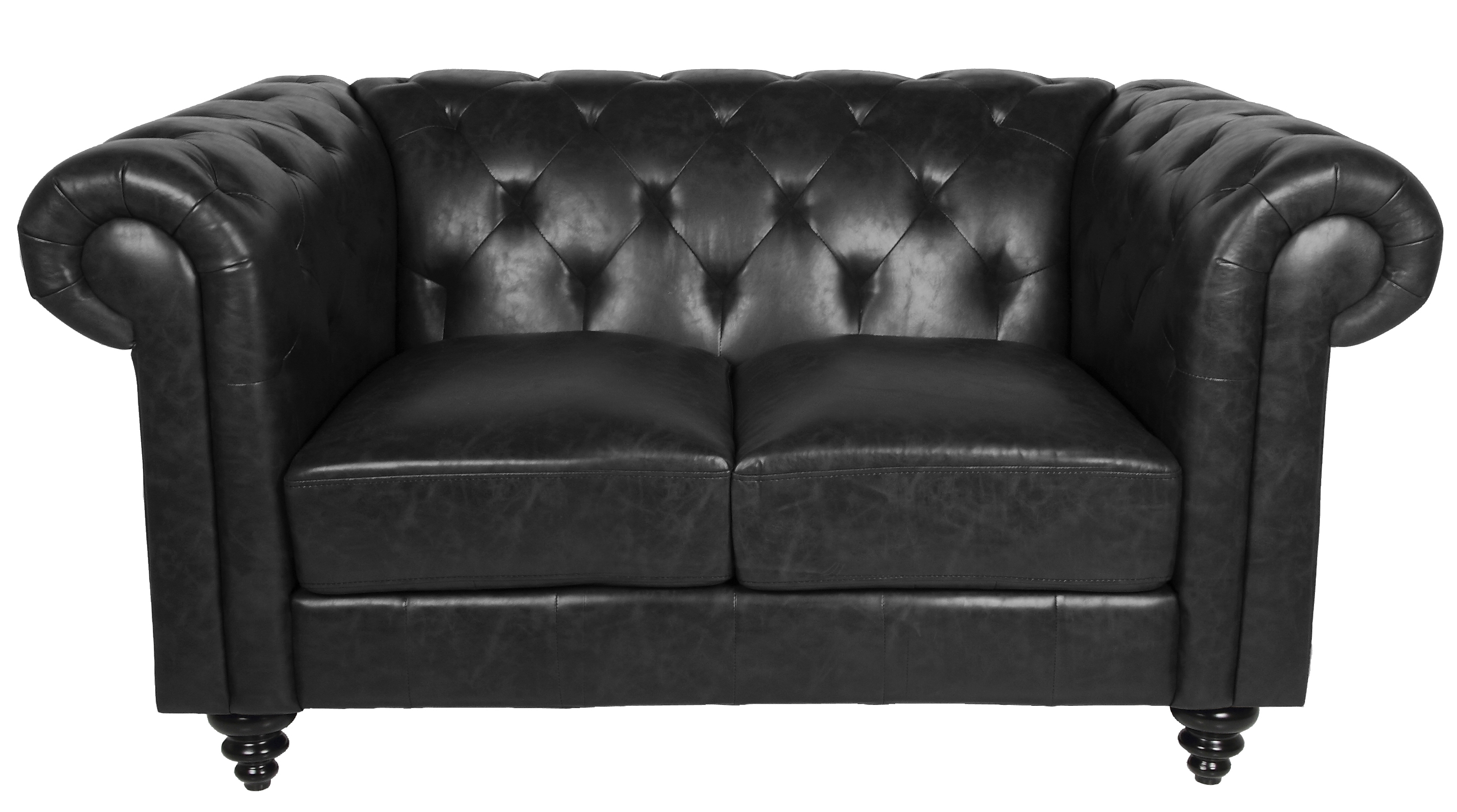 N/A Chester 2-pers. sofa - sort fra unoliving.com
