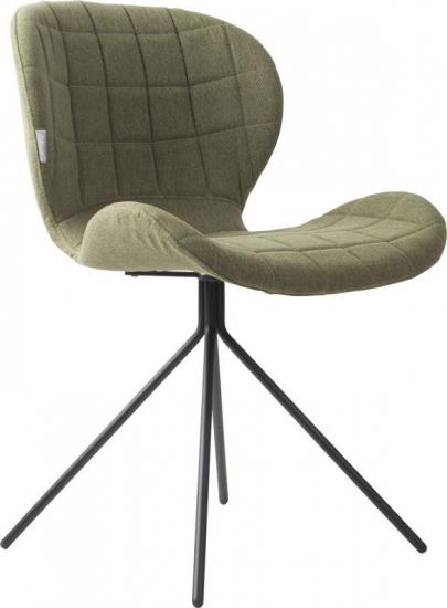 Zuiver OMG Spisebordsstol - Grøn stof - Polstret spisestol i lekkert design og grønt stoff