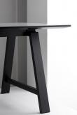 Andersen T1 Spisebord m. udtræk i sort lakeret eg- 220cm