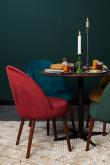 Dutchbone Barbara Spisebordsstol - Rød velour