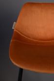 Dutchbone Franky Counterstol - Orange velour