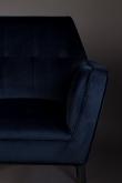Dutchbone - Kate Spisebordsstol m/armlæn - Deep blue