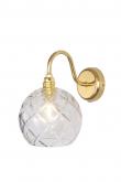 Ebb&Flow - Rowan Krystal væglampe, Guld, large check Ø15,5cm