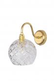 Ebb&Flow - Rowan Krystal væglampe, Guld, medium check