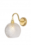 Ebb&Flow - Rowan Krystal væglampe, Guld, small check Ø15,5cm