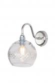 Ebb&Flow - Rowan Krystal væglampe, Sølv, check medium stripe