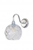 Ebb&Flow - Rowan Krystal væglampe, Sølv, large check Ø15,5cm