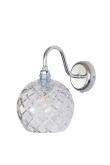 Ebb&Flow - Rowan Krystal væglampe, Sølv, medium check