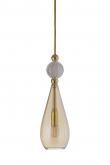 Ebb&Flow - Smykke pendel, Golden smoke m. Krystal ball