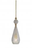 Ebb&Flow - Smykke pendel, Krystal m. Guld