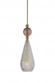 Ebb&Flow - Smykke pendel, Krystal m. obsidian ball, Guld