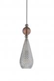 Ebb&Flow - Smykke pendel, Krystal m. obsidian ball, Sølv