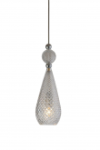 Ebb&Flow - Smykke pendel, Krystal m. Sølv