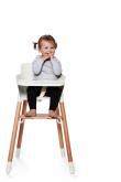 FLEXA Baby Højstol m/sikkerhedsbøjle - Bøg/Hvid