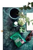 HANDVÄRK Sofabord 92x92 - Grøn Marmor, messing