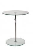 homii Sidebord - Glas - Sidebord i krom og hærdet glas