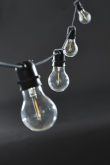 House Doctor Function Lyskæde med 10 runde  LED pærer, Sort