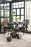 Ib Laursen - Cafebord bordplade i UNIKA træ og m/metalstel