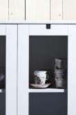 Mavis - Falsterbo Vitrineskab m/2 glaslåger - Hvid