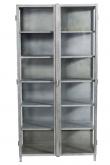 Muubs - Glasskab 17 m/2 låger - Jern - Sort jernskab med glaslåger