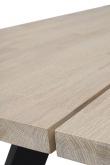 Fred Spisebord,børstet hvidvasket eg, 240x100