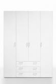Space Garderobeskab - Hvid m/4 låger