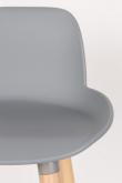 Zuiver Albert Kuip Barstol - Lys grå