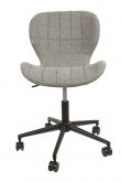 Zuiver - OMG Kontorstol - Grå stof - Grå kontorstol med sort stel
