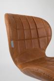 Zuiver OMG Spisebordsstol - Brun PU læder