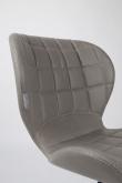 Zuiver OMG Spisebordsstol - Grå PU læder