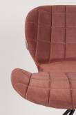 Zuiver OMG Spisebordsstol - Old pink velour