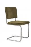 Zuiver Ridge Spisebordsstol - Grøn fløjl