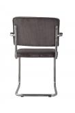 Zuiver - Ridge Spisebordsstol m/arm - Grå fløjl