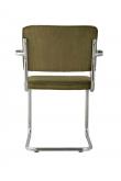 Zuiver Ridge Spisebordsstol m/arm - Grøn fløjl