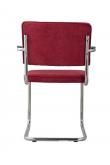 Zuiver Ridge Spisebordsstol m/arm - Rød fløjl