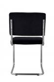 Zuiver Ridge Spisebordsstol - Sort fløjl