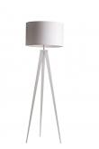Tripod Gulvlampe - Hvid gulvlampe i malet metal