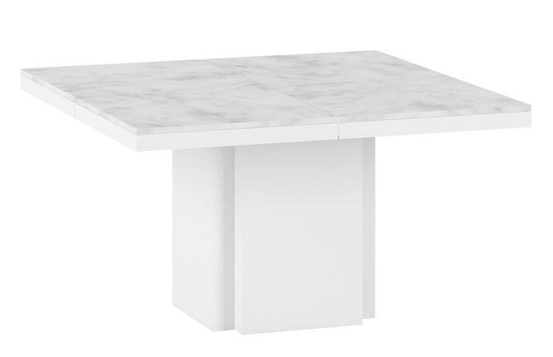 Temahome Dusk Spisebord 130x130 - Hvid marmor