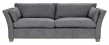 Milton 3-pers. Sofa - grå m. nitter